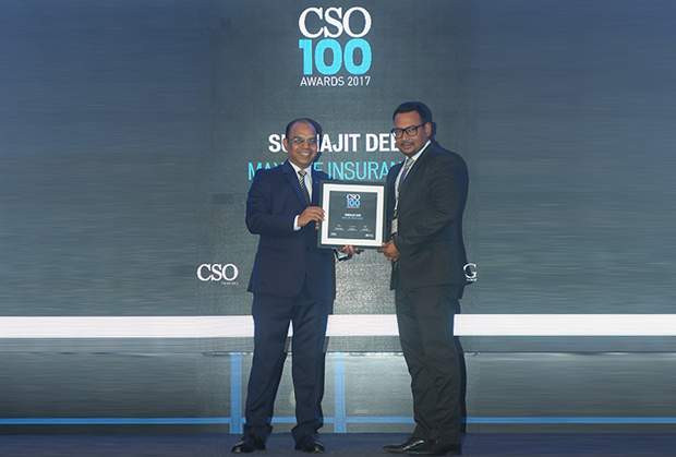 Subhajit Deb, Director and Chief Information Security Officer, Dr.Reddy's Laboratories receives the CSO100 Award for 2017