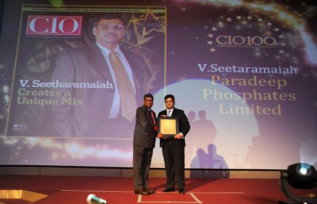 The Creative 100: V Seetharamiah, CIO of Paradeep Phosphates receives the CIO100 Award for 2011