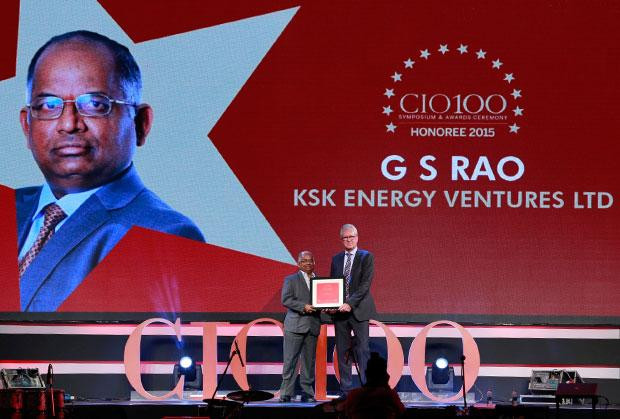 The Versatile 100: G S Rao, CIO of KSK Energy Ventures receives the CIO100 Award for 2015