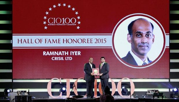 Hall of Fame: Ramnath Iyer, CIO of CRISIL receives the CIO100 Special Award for 2015