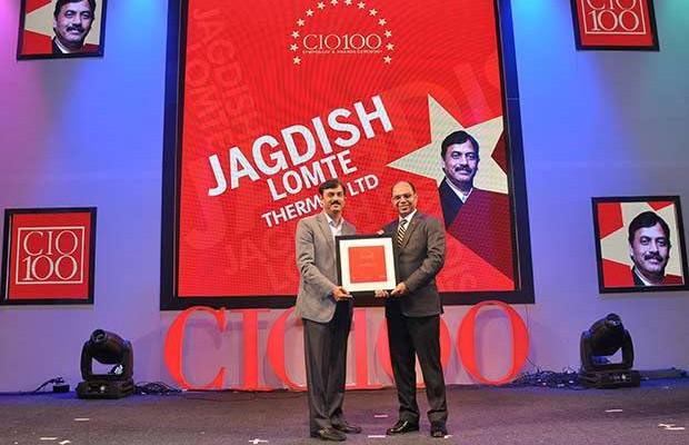 The Transformative 100: Jagdish Lomte, VP and CIO-BTG at Thermax receives the CIO100 Award for 2016