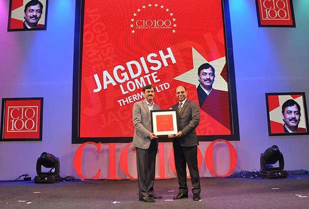 The Transformative 100: Jagdish Lomte, VP and CIO-BTG at Thermax receives the CIO100 Award for 2016