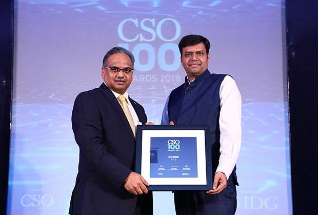 S K Singh, Senior Manager - IT Services at IFFCO receives the CSO100 Award for 2018