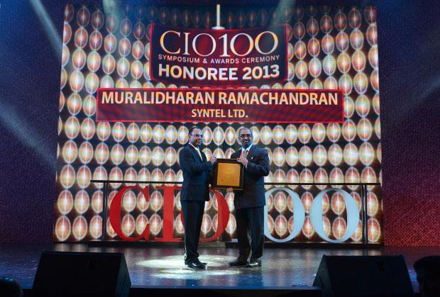 The Astute 100: Muralidharan Ramachandran, CIO, Syntel International receives the CIO100 Award for 2013