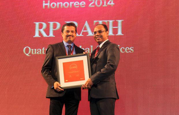 The Dynamic 100: R P Rath, VP-IT of Quatrro Global Services receives the CIO100 Award for 2014