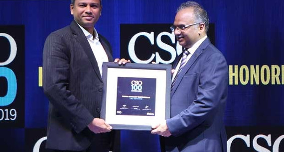Samir Hemant Matondkar AGM – IT & Cyber Security at L&T Defence India receives the CSO100 Award for 2019