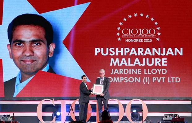 The Versatile 100: Pushparanjan Malajure, IT - Director of Jardine Lloyd Thompson India receives the CIO100 Award for 2015