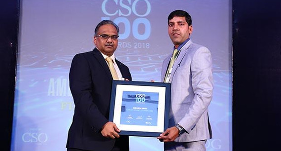 Ambarish Kumar Singh, Sr. Information Security Manager of Flipkart Internet receives the CSO100 Award for 2018
