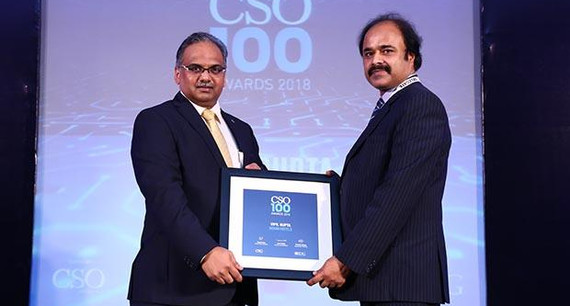 Vipil Gupta, Director at The Indian Hotels Company receives the CSO100 Award for 2018