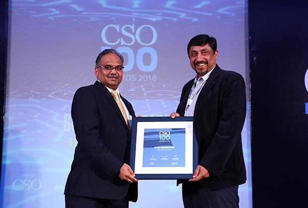 Sujoy Brahmachari, CISO, Hero MotorCop of CSO100 Award for 2018