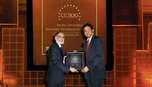 The Ingenious 100: Muralikrishna K, Sr. VP Group Head-Computer, Infosys receives the CIO100 Award for 2009