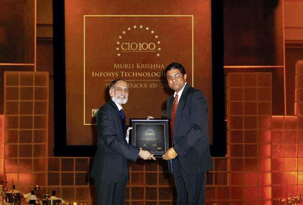 The Ingenious 100: Muralikrishna K, Sr. VP Group Head-Computer, Infosys receives the CIO100 Award for 2009