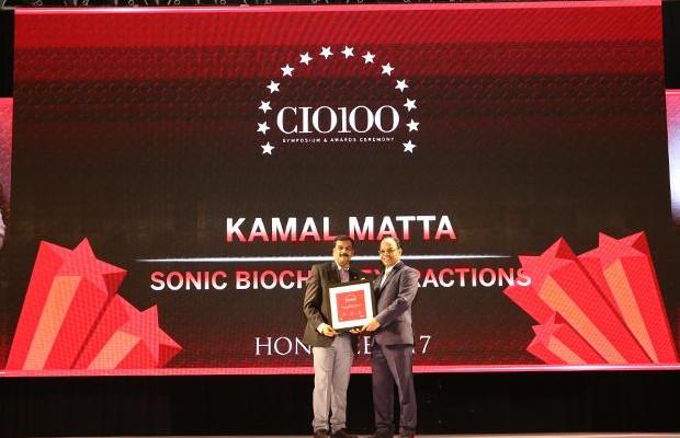 The Digital Innovators: Kamal Matta, CIO and CSO at Sonic Biochem receives the CIO100 Award for 2017