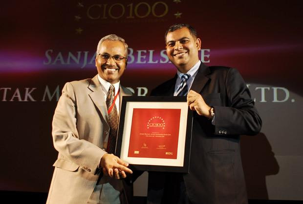 The Agile 100: Sanjay M Belsare, EVP-IT, Kotak Mahindra Bank recieves CIO100 Award for 2010