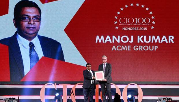 The Versatile 100: Manoj Kumar, Group CIO of ACME Group receives the CIO100 Award for 2015