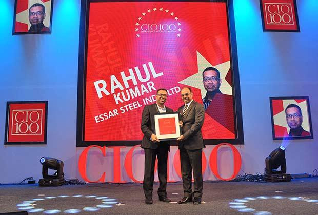 The Transformative 100: Rahul Kumar, CIO, Essar Steel India receives the CIO100 Award for 2016