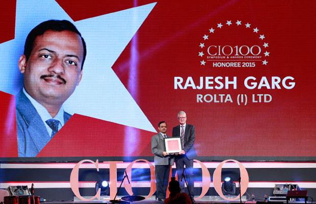 The Versatile 100: Rajesh Garg, Head IT-Transformation Solutions of Rolta India receives the CIO100 Award for 2015