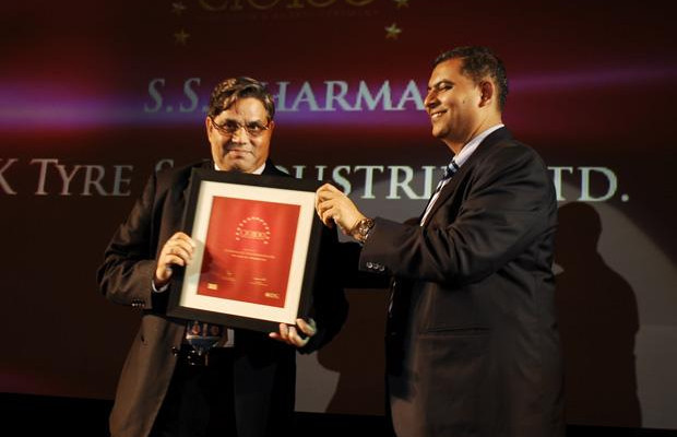 The Agile 100: S S Sharma, Head IT, JK Tyres and Industries receives the CIO100 Award for 2010.