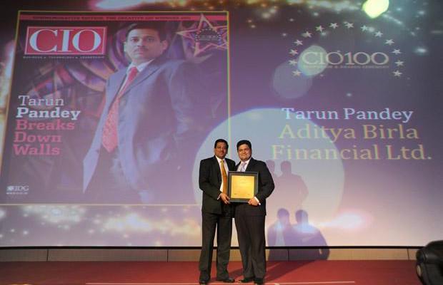The Creative 100: Tarun Pandey, Senior VP-IT of Aditya Birla Financial receives the CIO100 Award for 2011