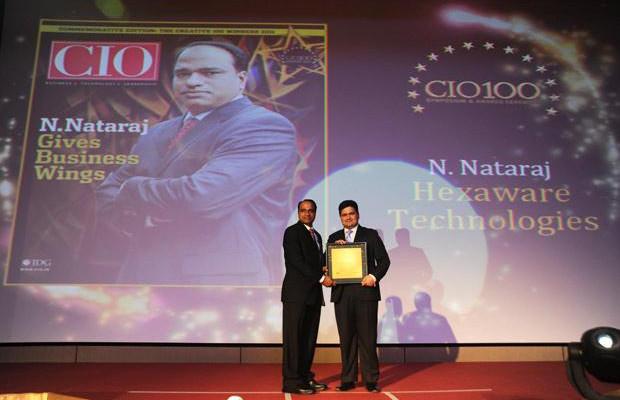 The Creative 100: Nataraj N, Global CIO of Hexaware Technologies receives the CIO100 Award for 2011