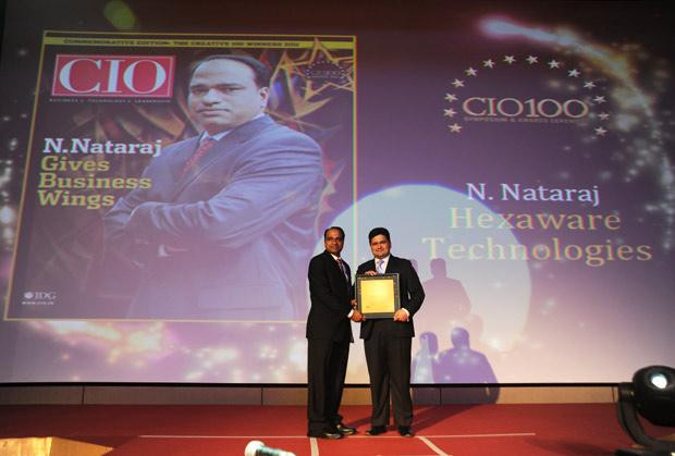 The Creative 100: Nataraj N, Global CIO of Hexaware Technologies receives the CIO100 Award for 2011