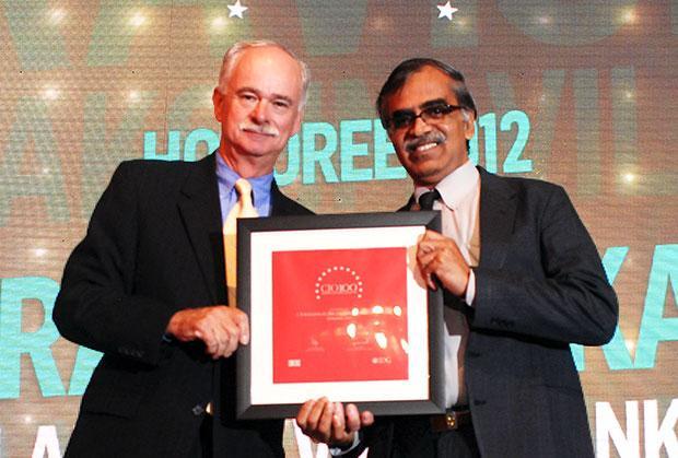 The Resilient 100: S Ravishankar, General Manager of Lakshmi Vilas Bank receives the CIO100 Award for 2012