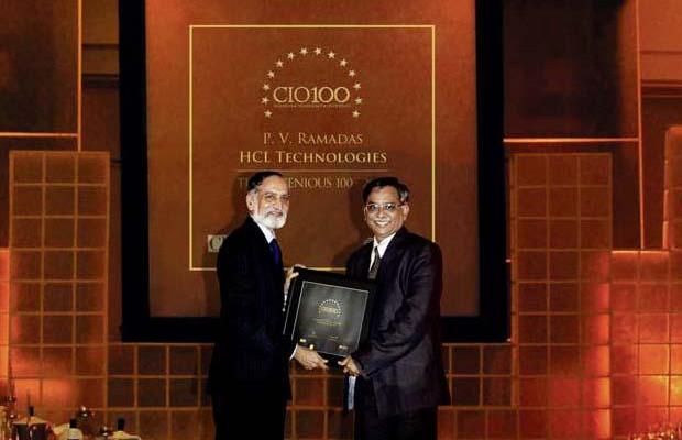 The Ingenious 100: P V Ramadas, VP-IT of HCL Technologies receives the CIO100 Award for 2009