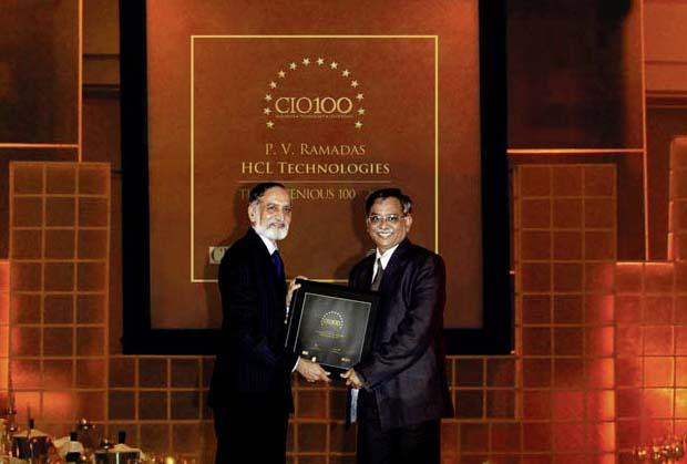 The Ingenious 100: P V Ramadas, VP-IT of HCL Technologies receives the CIO100 Award for 2009