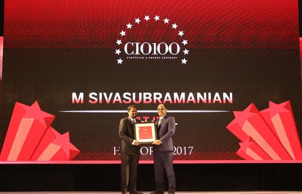 The Digital Innovators: M Sivasubramanian, Head-IT of L&T Infrastructure Development Projects receives the CIO100 Award for 2017