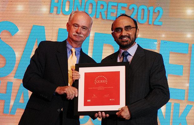 The Resilient 100: Sandeep Phanasgaonkar, President & CTO of Reliance Commercial Finance receives the CIO100 Award for 2012