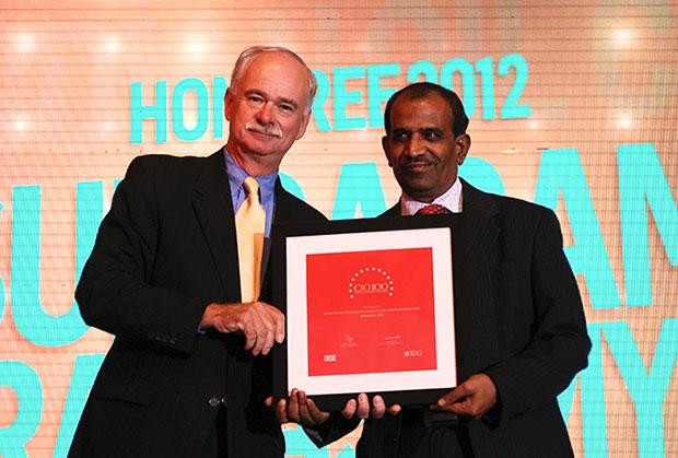 The Resilient 100: S Ramasamy, Executive Director-IS at Indian Oil Corporation (IOCL) receives the CIO100 Award for 2012