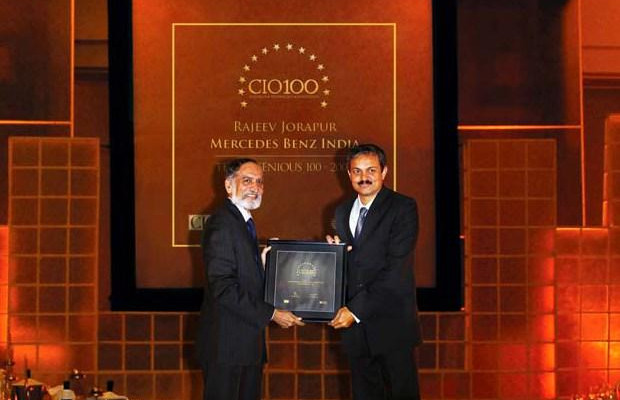 The Ingenious 100: Rajeev Jorapur, Head-IT of Mercedes-Benz India receives the CIO100 Award for 2009
