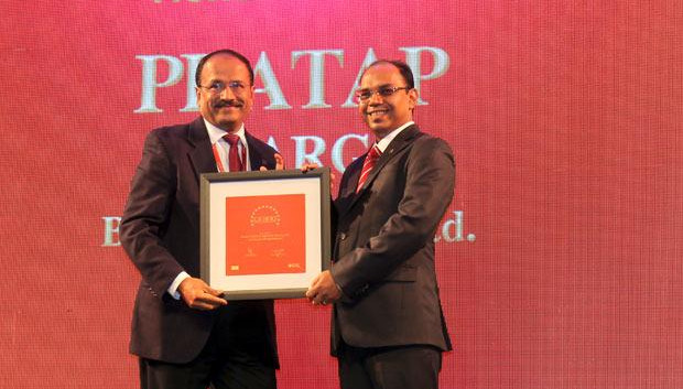The Dynamic 100: Pratap S Gharge, President and CIO of Bajaj Electricals receives the CIO100 Award for 2014.
