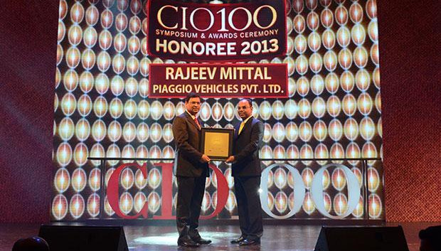 The Astute 100: Rajeev Mittal, HEAD IT&IS Piaggio Vehicles receives the CIO100 Award for 2013