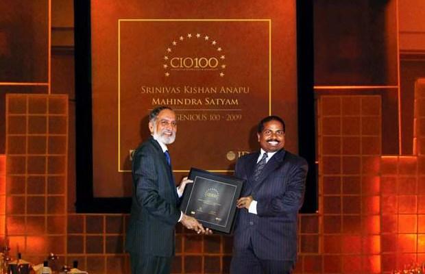 The Ingenious 100: Srinivas Kishan Anapu, Head-Internal Information Systems of Tech Mahindra receives the CIO100 Award for 2009
