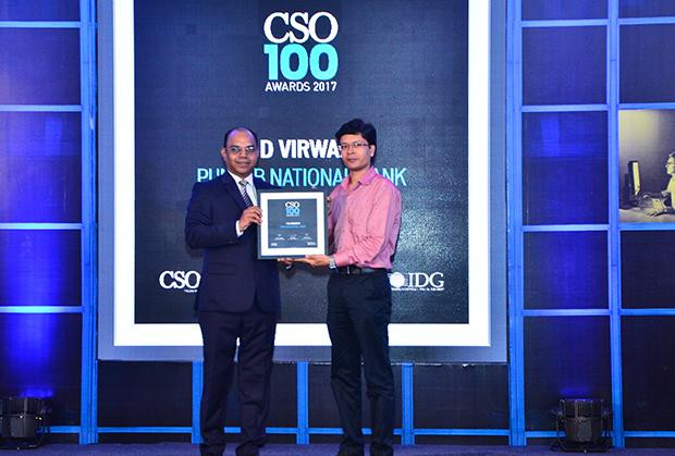 TD Virwani, Assistant General Manager-CISO, Punjab National Bank receives the CSO100 Award for 2017.