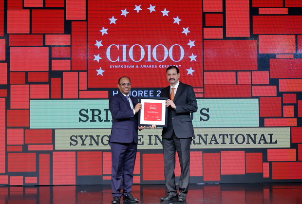 The Digital Architect: Srikanth J S, Head– Infrastructure & Security, Syngene International, receives the CIO100 award for 2018