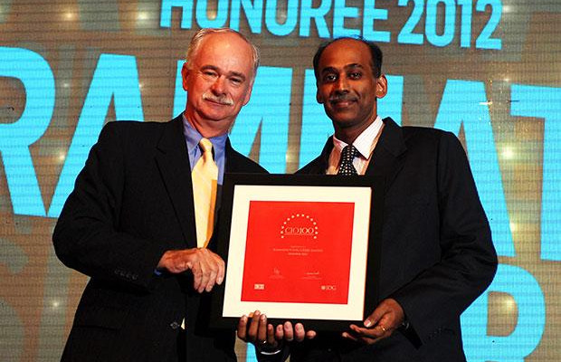 The Resilient 100: Person, Ramnath Iyer, CIO of CRISIL receives the CIO100 Award for 2012