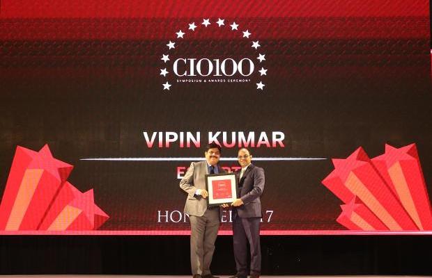 The Digital Innovators: Vipin Kumar, Group CIO of Escorts receives the CIO100 Award for 2017