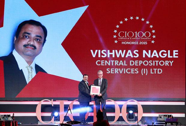 The Versatile 100: Vishwas Nagle, VP-IT of Central Depository Services (India) receives the CIO100 Award for 2015