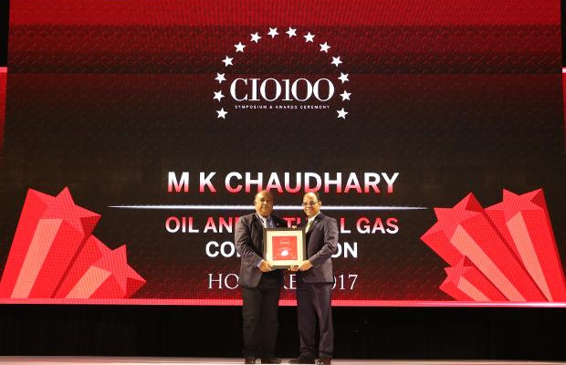 The Digital Innovators: Mahendra Kumar Chaudhary, Executive Director and CIO of ONGC receives the CIO100 Award for 2017