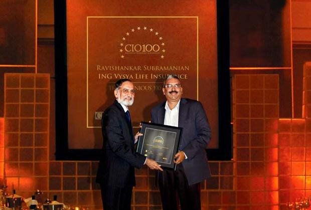 The Ingenious 100: Ravishankar Subramnian, IT- Director, Exide Life Insurance receives CIO100 Award for 2009