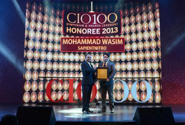 The Astute 100: Mohammad Wasim, Director & Global Infrastructure Lead, Sapient Corporation receives the CIO100 Award for 2013