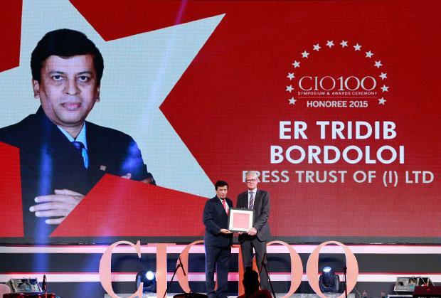 The Versatile 100: Tridib Bordoloi, CTO at The Press Trust of India (PTI) receives the CIO100 Award for 2015