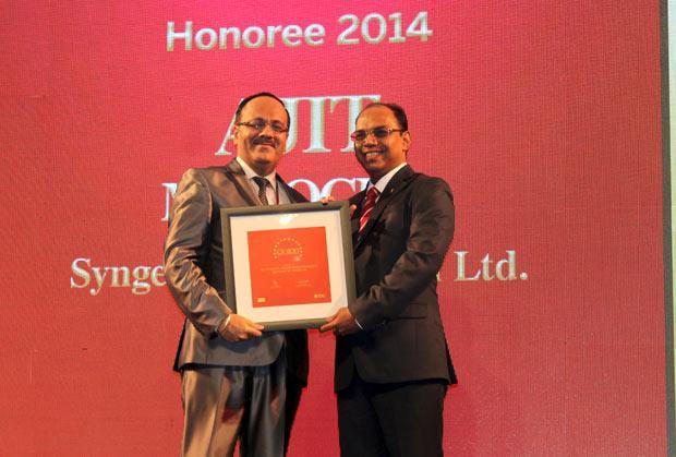 The Dynamic 100: Ajit Manocha, Associate VP and CIO at Syngene International receives the CIO100 Award for 2014