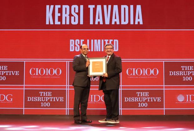 The Disruptive 100: Kesri Tavadia, CIO, Bombay Stock Exchange  receives the CIO100 Award for 2019