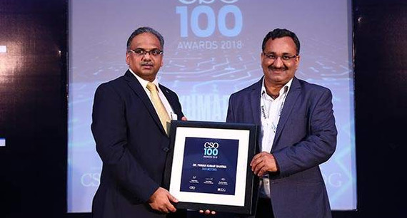 Pawan Kumar Sharma, CISO at Tata Motors receives the CSO100 Award for 2018