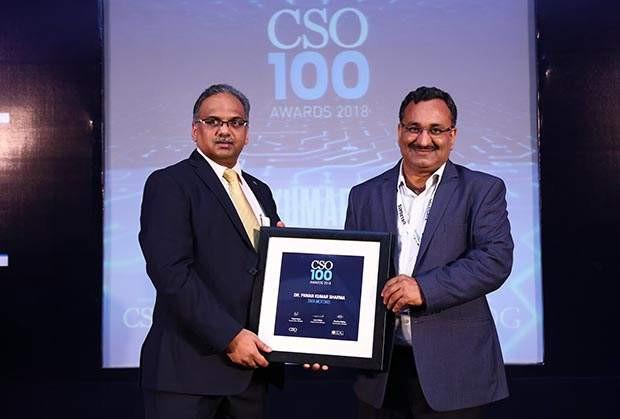 Pawan Kumar Sharma, CISO at Tata Motors receives the CSO100 Award for 2018