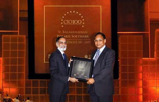 The Ingenious 100: V. Balakrishnan, CIO of Polaris Financial Technology receives the CIO100 Award for 2009