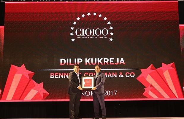The Digital Innovator: Dilip Kukreja, VP & Chief Innovations Officer- IT at Bennett Coleman & Co. receives the CIO100 Award for 2017